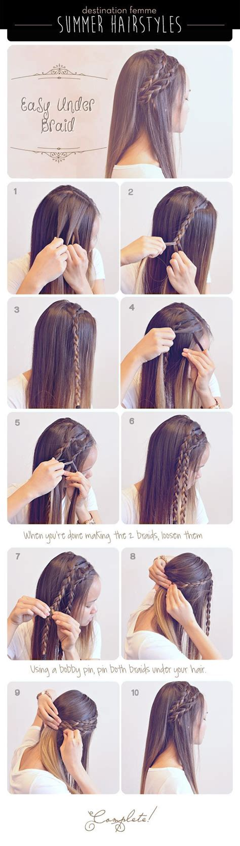 Easy Hairstyles For Long Hair No Braids | summer braid hairstyle for summer pictures photos and