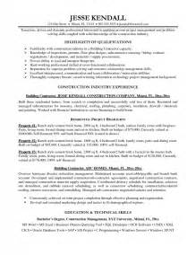 Resume Skills Exles Construction General Construction Resume Best Resume Exle