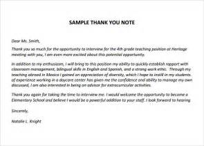 Thank You Letter Of Teacher Sample Thank You Notes For Teachers 6 Documents In Pdf