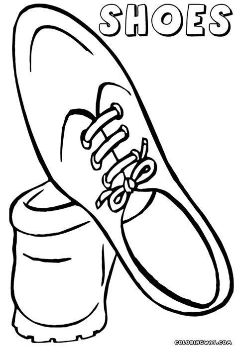 running shoe coloring book clipart best