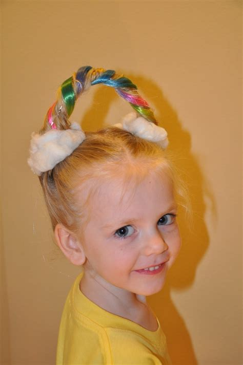 crazy hairstyles images rainbows and clouds for crazy hair day adventurous