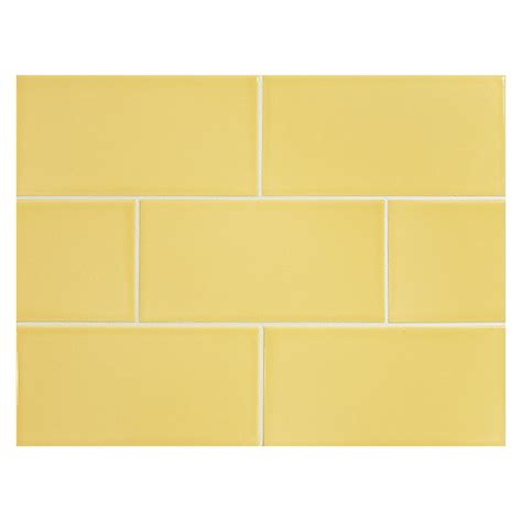 yellow subway tile vermeere ceramic tile yellow gloss 3 quot x 6 quot subway tile