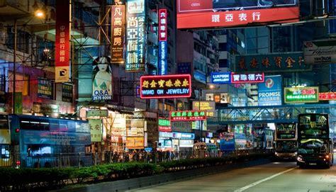light street architecture china asia neon asian wallpaper