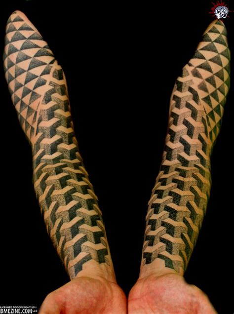 geometric illusion tattoo geometric abstract tattoo geometric optical illusion
