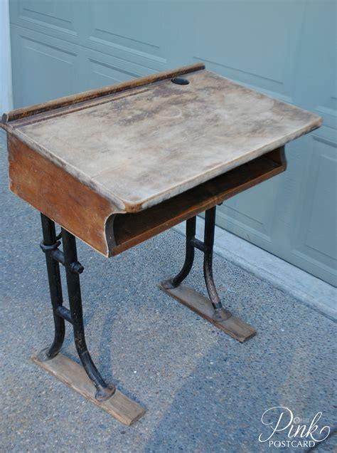 restoring a vintage school desk and the alphabet sort of