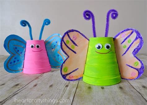 butterfly crafts foam cup butterfly craft i crafty things
