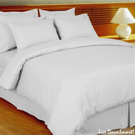 White Stripe Twin Xl Duvet Cover Set 100 Cotton 300 White Xl Bedding