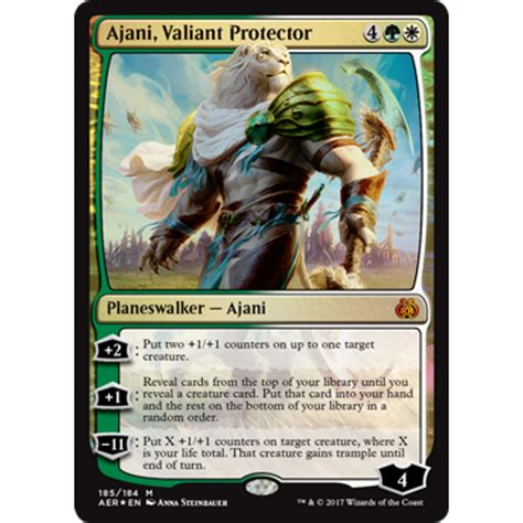 Number Of Cards In A Magic Deck by Ajani Valiant Protector Foil Magic The Gathering From