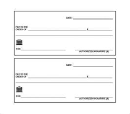 Bank Check Template by 24 Blank Check Templates Free Premium Templates