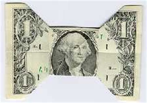Origami Dollar Bill Bow Tie - 5 great ways to leave a tip savingadvice