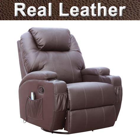 Brown Leather Rocker Recliner Chair Cinemo Brown Leather Recliner Chair Rocking Swivel