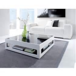 Beau Table Basse Blanc Laquee Pas Cher #8: Mobilier-maison-table-basse-en-verre-cdiscount.jpg