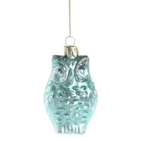 turquoise ornaments for turquoise mercury glass owl ornament ornaments