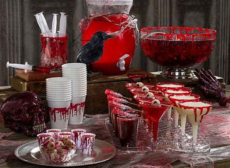 themes for a halloween party bloody good drink ideas party city