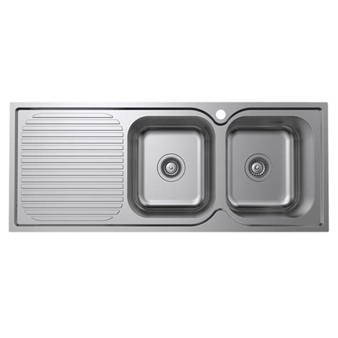 stainless steel kitchen sink right drainer mondella 1180mm cadenza right bowl stainless