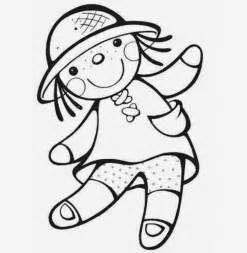 doll kid coloring drawing free wallpaper anggela