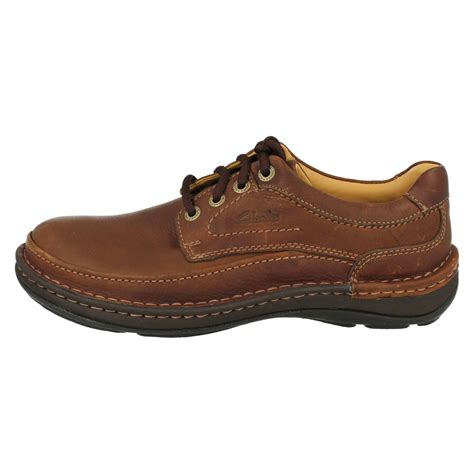 mens clarks smart casual lace up shoes nature three ebay
