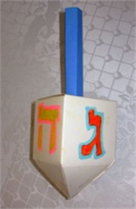 Hanukkah Recipes And Crafts 3d Dreidel Template
