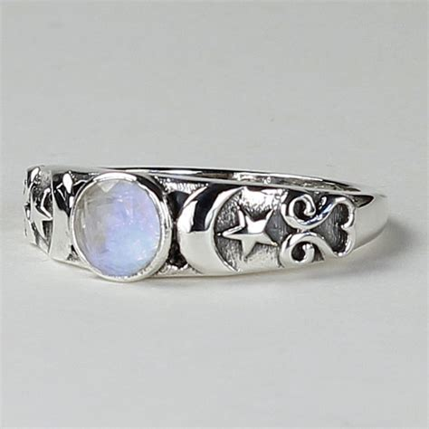 Gemstone Home Decor Triple Moon Ring With Moonstone Heaven Amp Nature Store