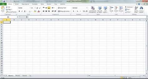 getting started with excel 2010