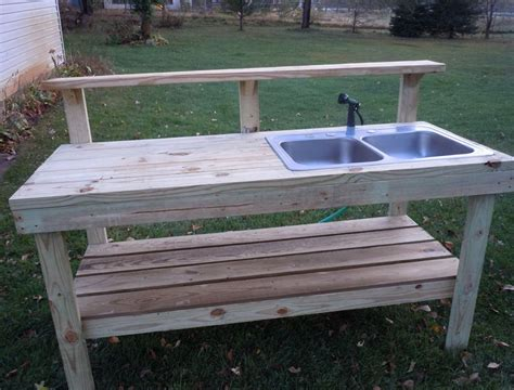 potting bench plans with sink outdoor potting bench with sink plans gardening