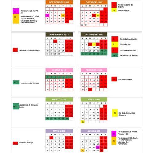 Calendario Escolar 2017 Castilla Y Calendario Escolar 2017 18 Inicio Y Fin De Curso