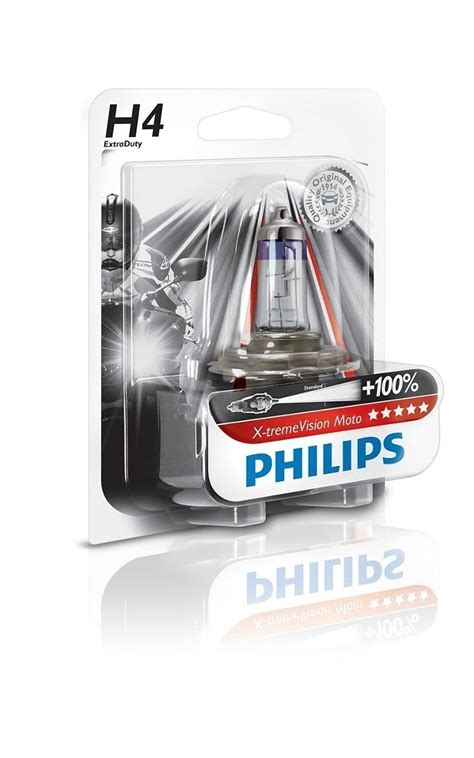 Lu Philips H4 60 55w lada farol moto h4 philips xtreme vision 60 55w 100