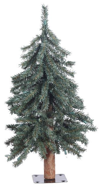 2 x16 5 quot natural bark alpine artificial christmas tree