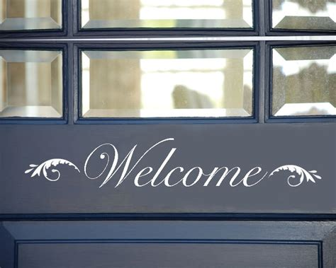 Welcome Signs For Door by Welcome Sign Vinyl Welcome Sign Front Door Welcome Sign