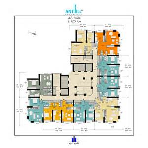 Modern Apartment Plans Anthill Residence Apartment Plans