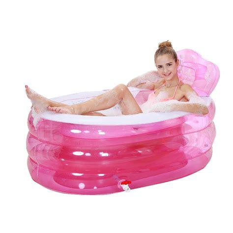 portable bathtub for shower spa inflatable bath tub adults shower tray bidet bathtubs 160cm 90cm 75cm blue pink color big pvc folding portable bathtub in inflatable