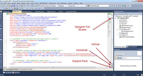 xaml page layout a few tips for working with xaml inside of visual studio 2010