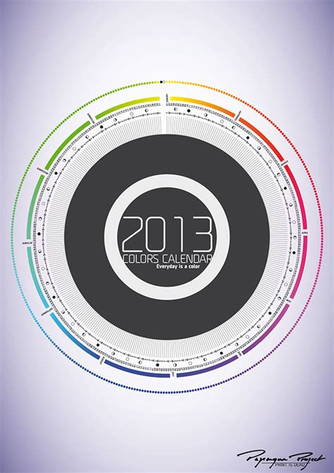 Calendar Where Everyday Is A 2013 Calendar Everyday Is A Color On Pantone Canvas Gallery