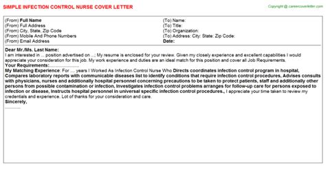 Infection Cover Letter by Infection Title