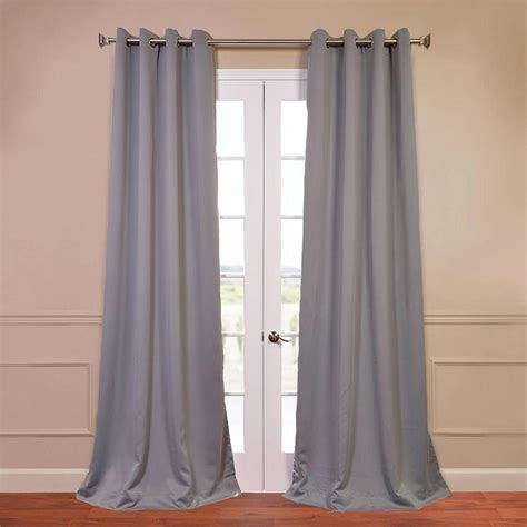 gray black out curtains exclusive fabrics furnishings neutral grey grommet