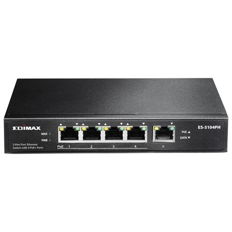 edimax switches poe 5 port fast ethernet switch with