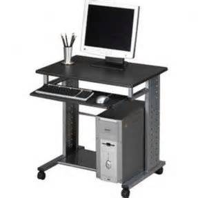Small Desktop Workstation Small Computer Table On Wheels Foter