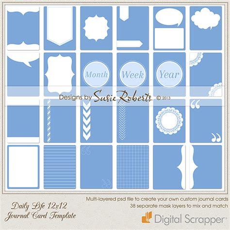 journal card templates daily 12 x 12 journal card template
