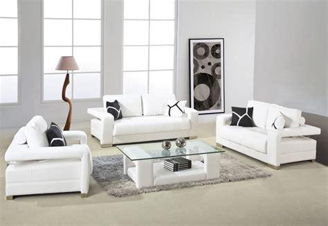 d2926 modern white bonded leather sofa set