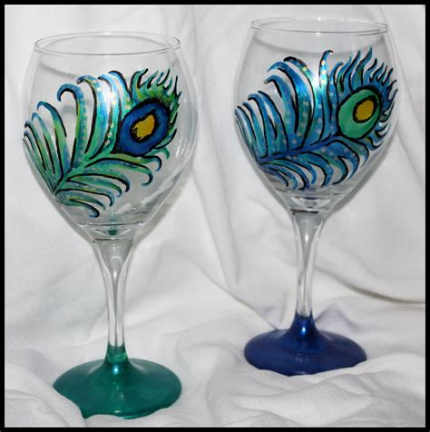 wine glass painting painted wine glasses 171 custom art by alexis