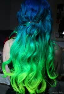 blue green hair color mermaid ombre hair color most