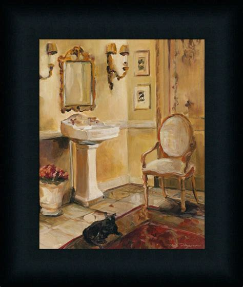 bathroom framed wall art french bath ii marilyn hageman bathroom spa framed art