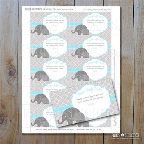 free printable diaper raffle tickets elephant free printable elephant diaper raffle diaper raffle