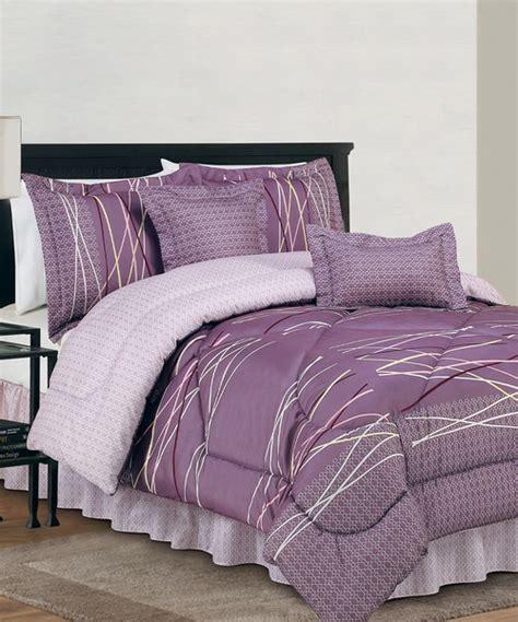 Gray And Purple Bedding Sets Purple Gray Bellevue Reversible Comforter Set