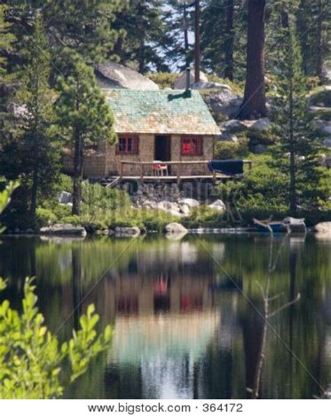 Woods Lake Cabins by Cabin Woods Near Lake Image Photo Bigstock