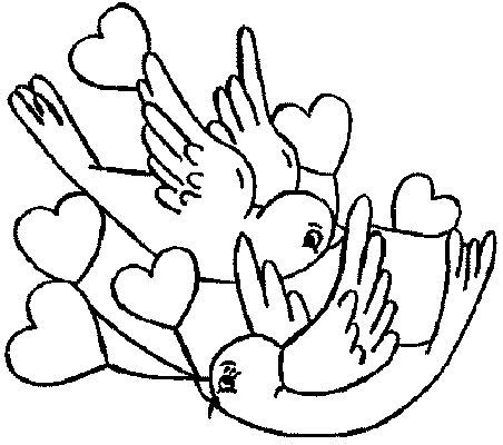 love bird coloring pages love birds try to attract female