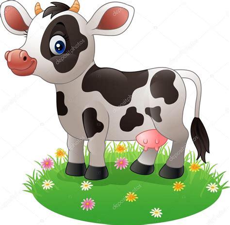 imagenes de amor animadas de vacas vaca de desenhos animados que pisar a relva vetores de