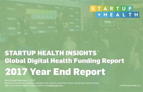Free Insights Report by Startup Health Year End Insights Report 2017 Health Transformer