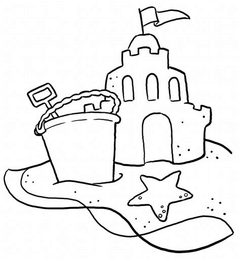 free coloring pages sand castle sand castles beach coloring pages pinterest beach