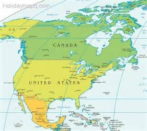 map of usa and canada with states and cities united states map mexico